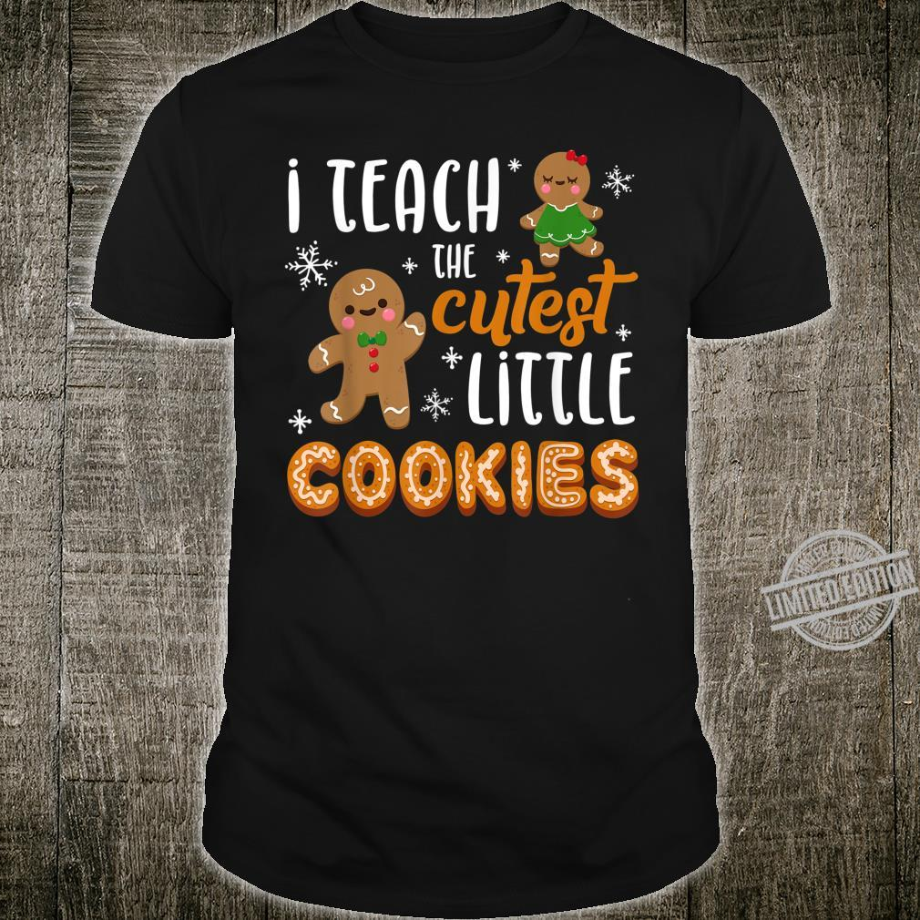 I Teach The Cutest Cookies Gingerbread Christmas Shirt