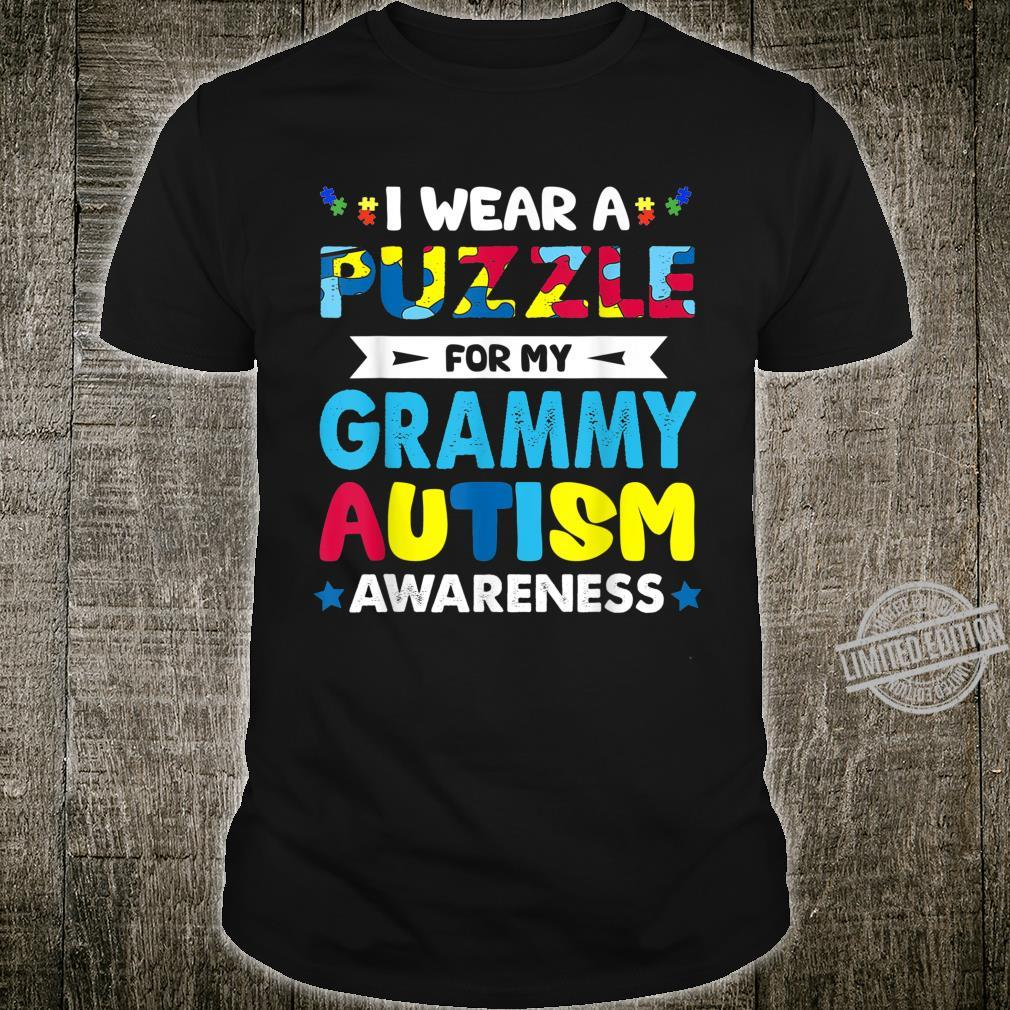 I Wear A Puzzle For My Grammy Autism Awareness Shirt