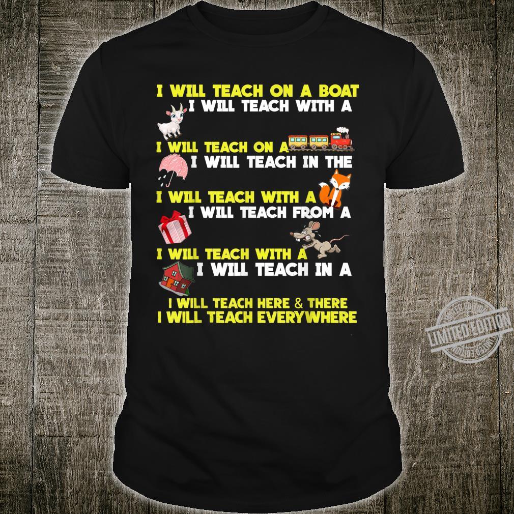 I Will Teach On A Boat Teachers Shirt