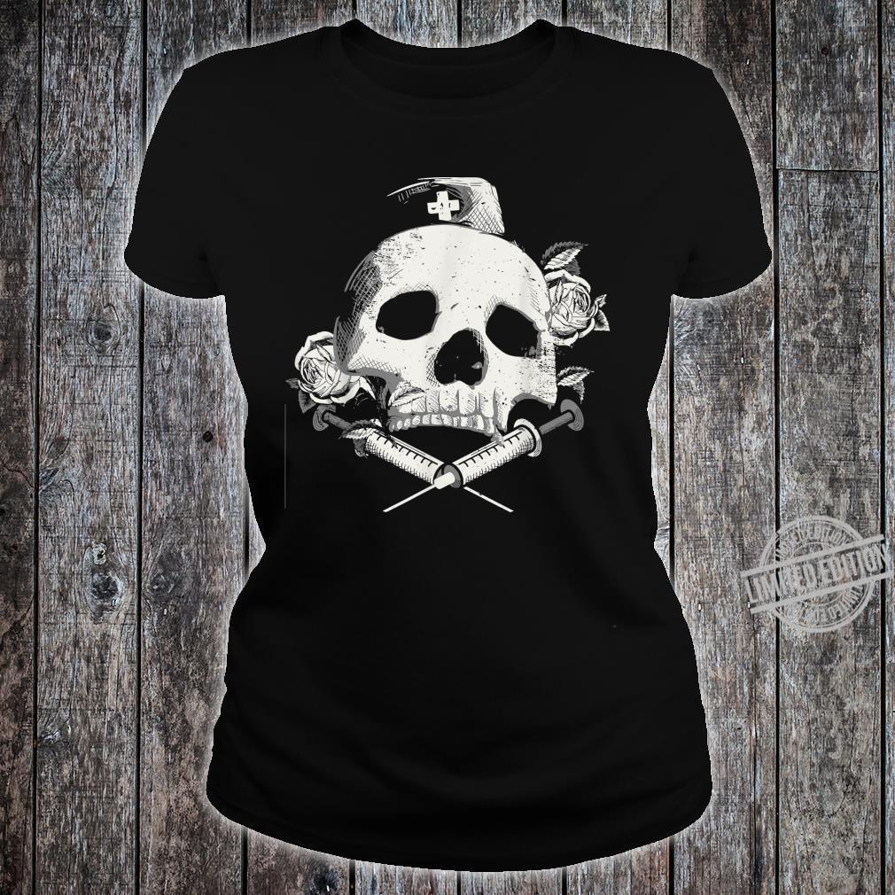 I'll Stab You Nurse gift, Medical, Skull design Shirt ladies tee