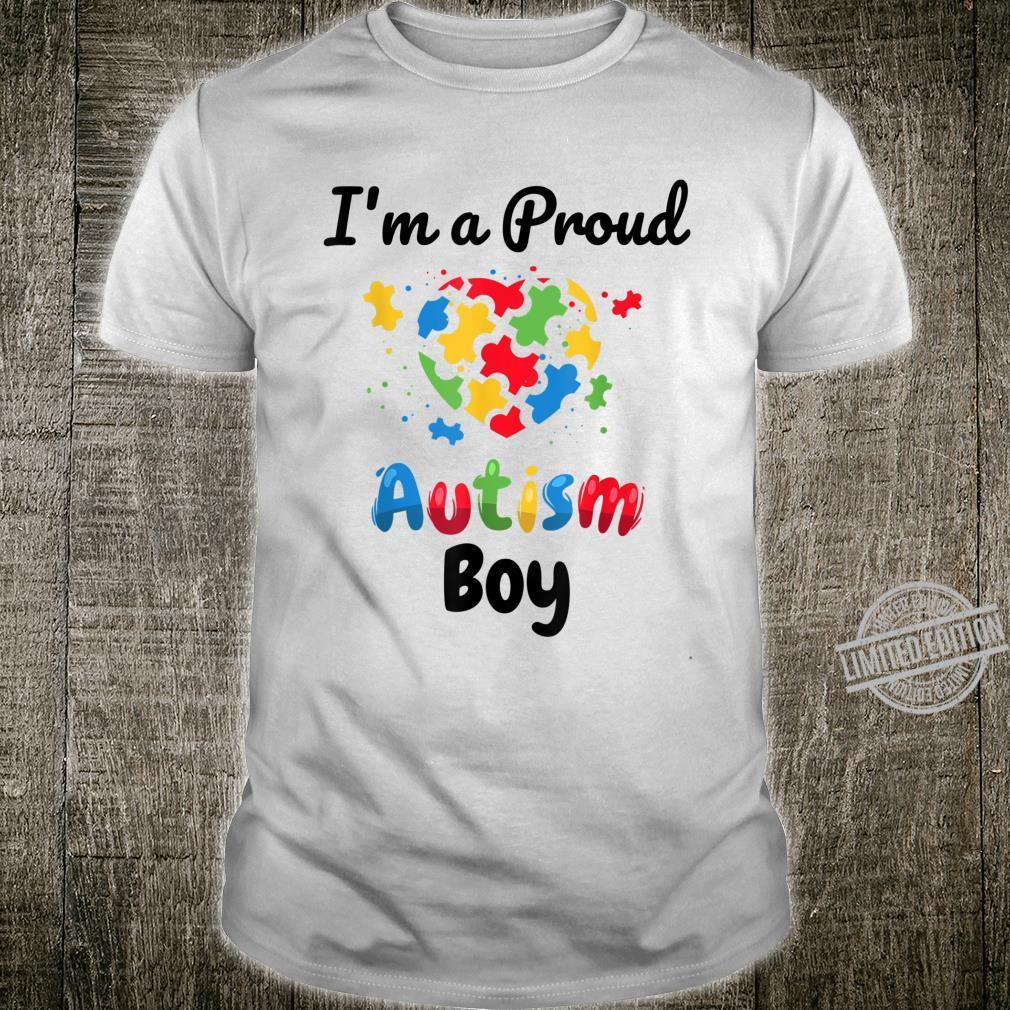I'm A Proud Autism Boy Boys Heart Puzzle Shirt