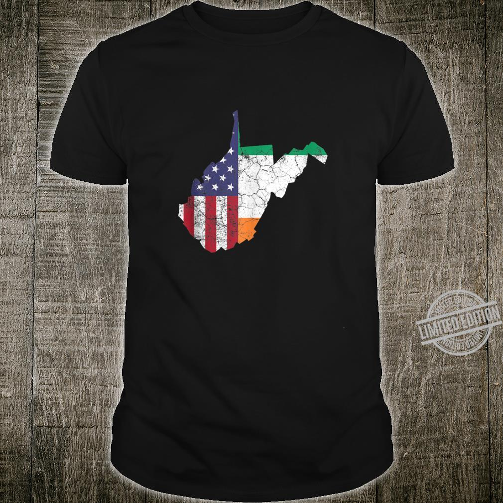 Irish American Flag West Virginia St. Patrick's Day Vintage Shirt