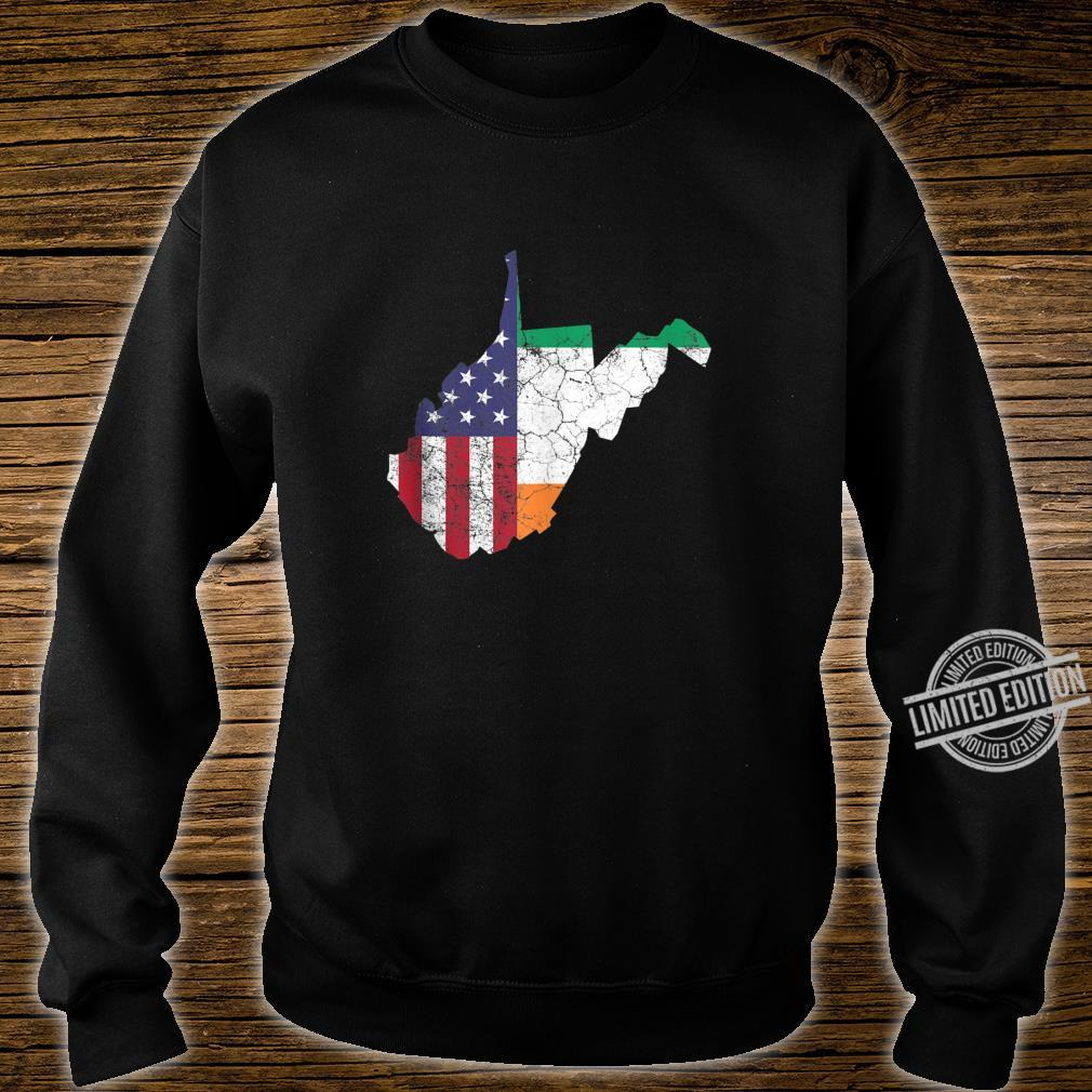 Irish American Flag West Virginia St. Patrick's Day Vintage Shirt sweater