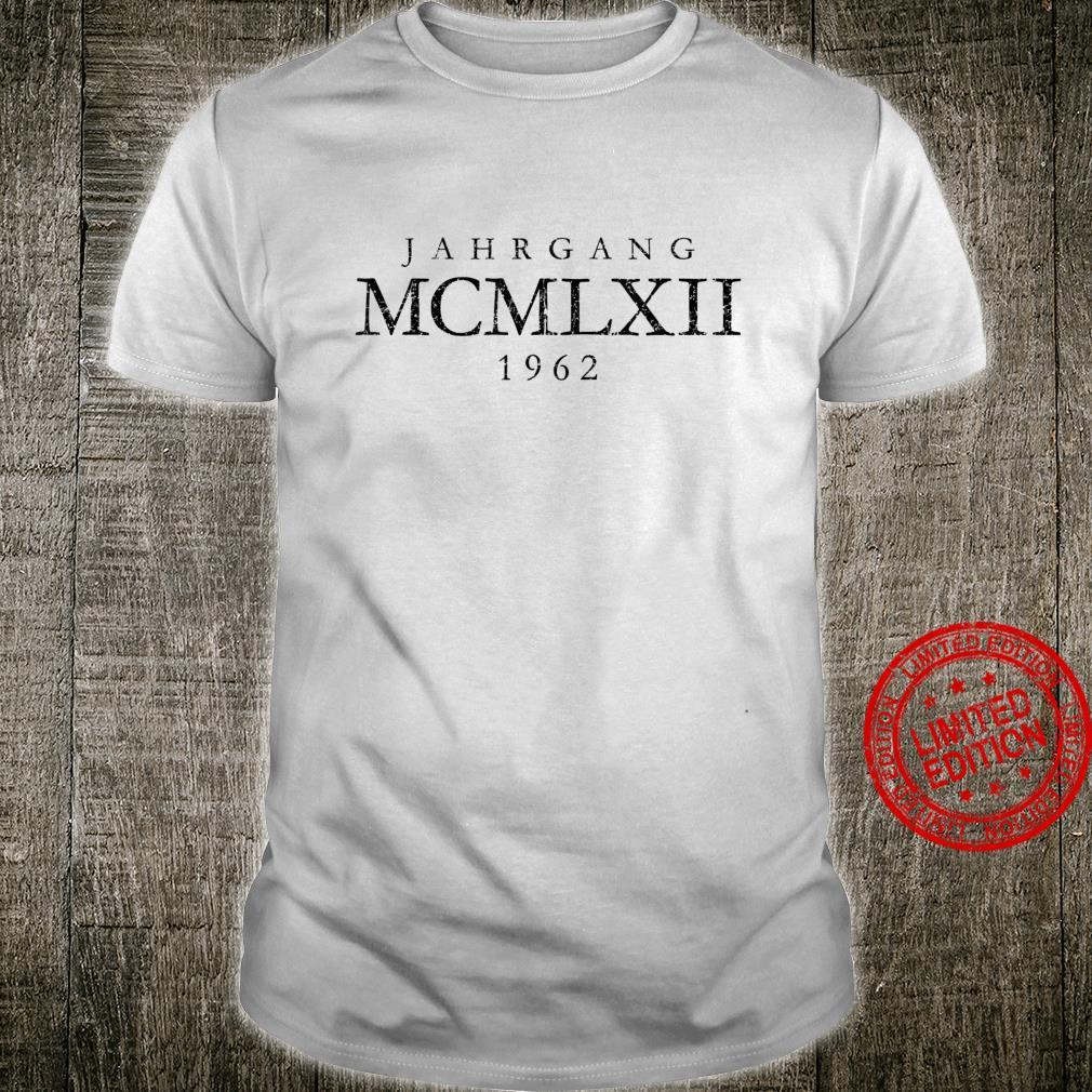 Jahrgang MCMLXII 1962 Vintage Schwarz 58. Geburtstag Shirt