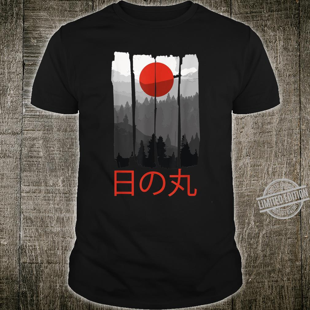 Japanese Flag Nature Artwork Japan Sunrise Shirt