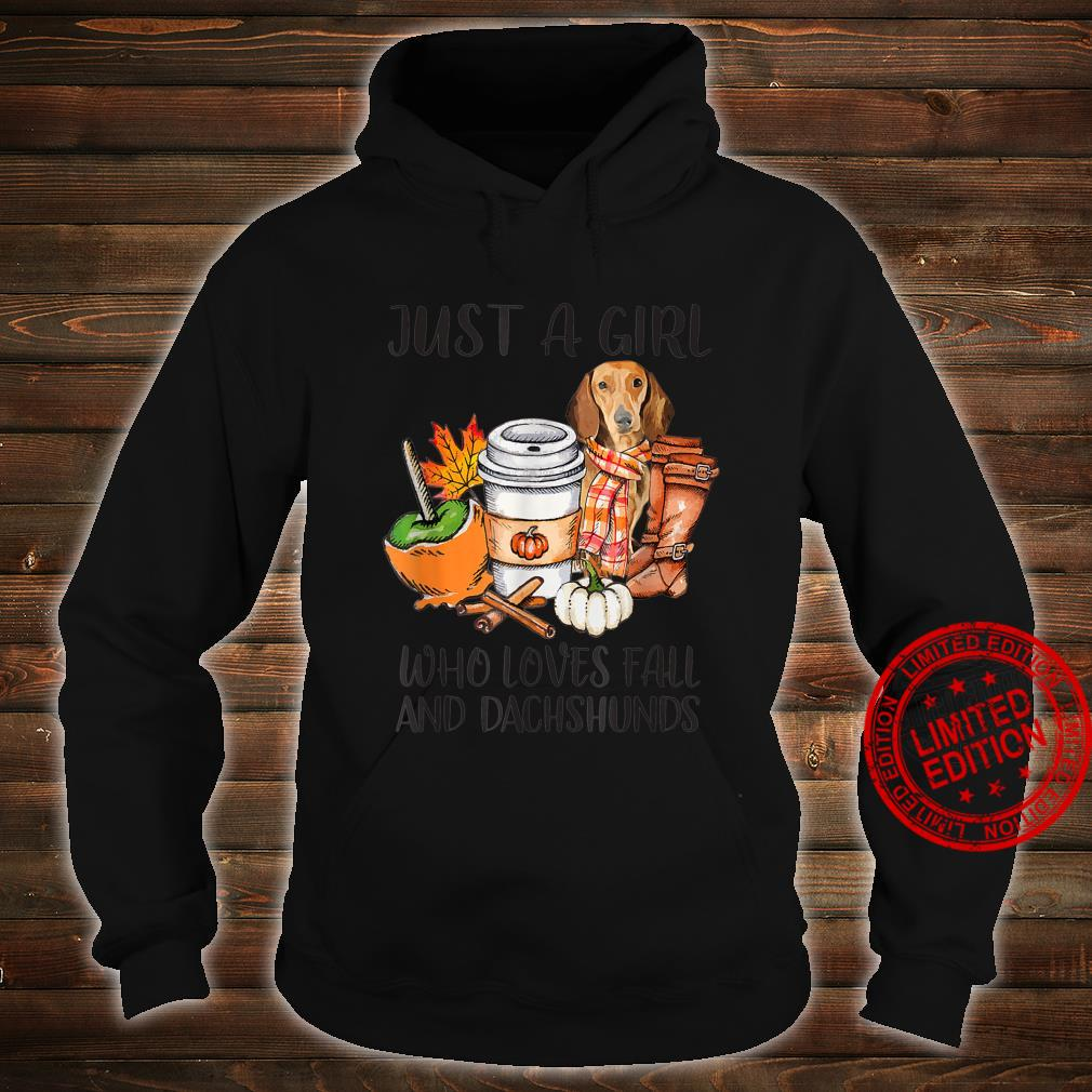Just A Girl Who Loves Fall And Dachshunds Autumn Fall Shirt hoodie