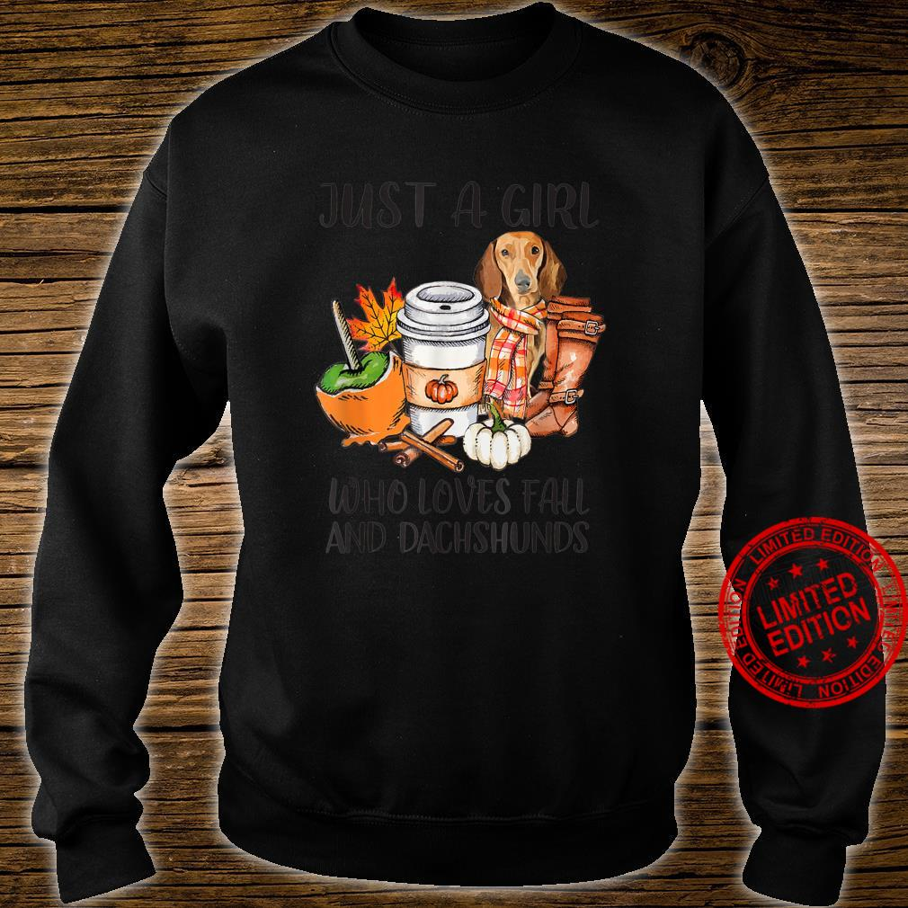 Just A Girl Who Loves Fall And Dachshunds Autumn Fall Shirt sweater