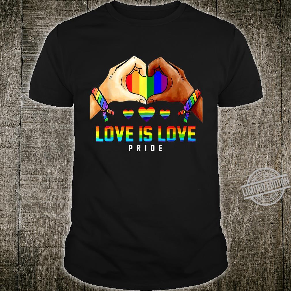 LGBT Love Is Love Heart Unity Shirt