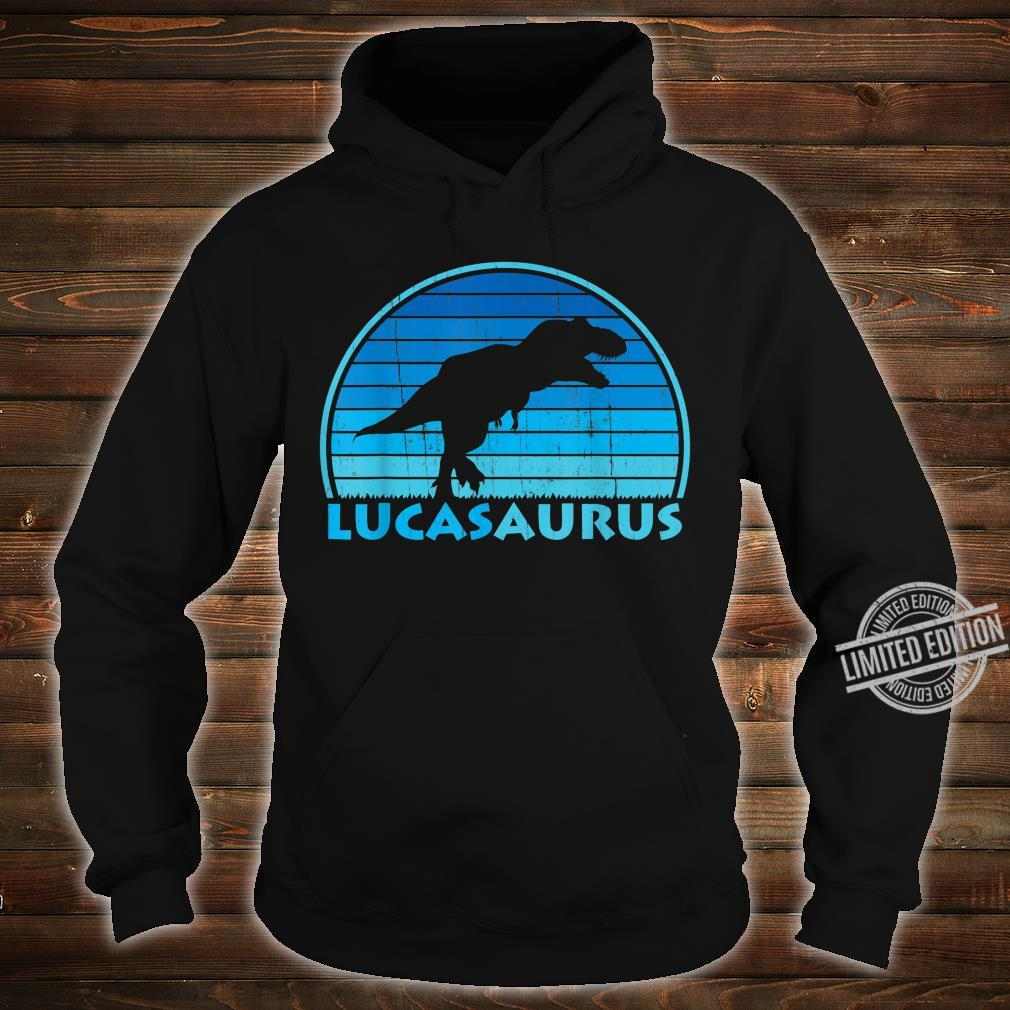 Lucas Saurus Dinosaurs Name Shirt hoodie