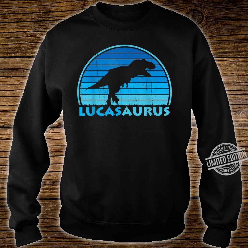 Lucas Saurus Dinosaurs Name Shirt sweater