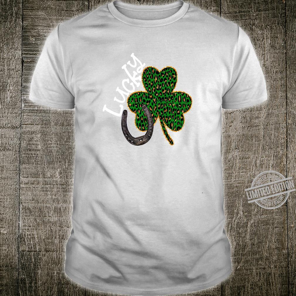 Lucky Leopard Shamrock St Patricks Day Shirt