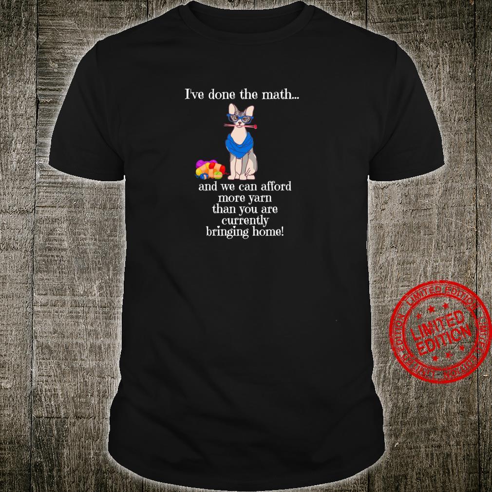 Lustige gestrickte Katze Shirt