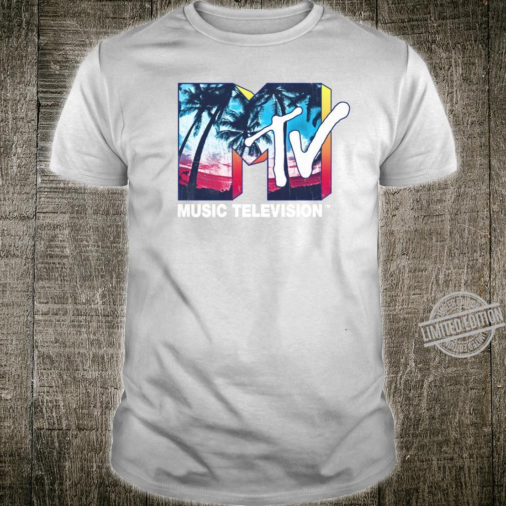 MTV Music Television Tropical Sunset Logo Shirt