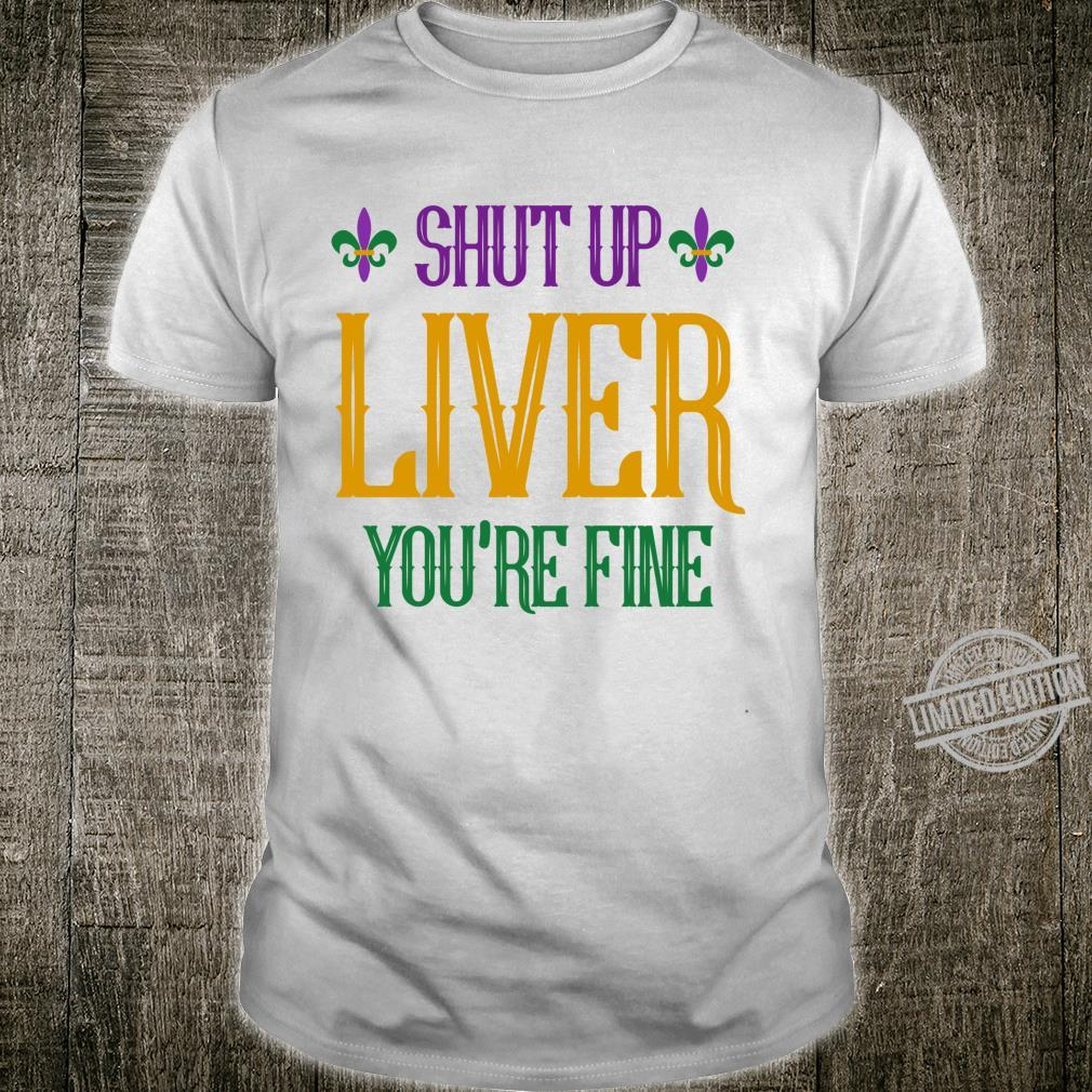 Mardi Gras Liver New Orleans Drinking Party Shirt