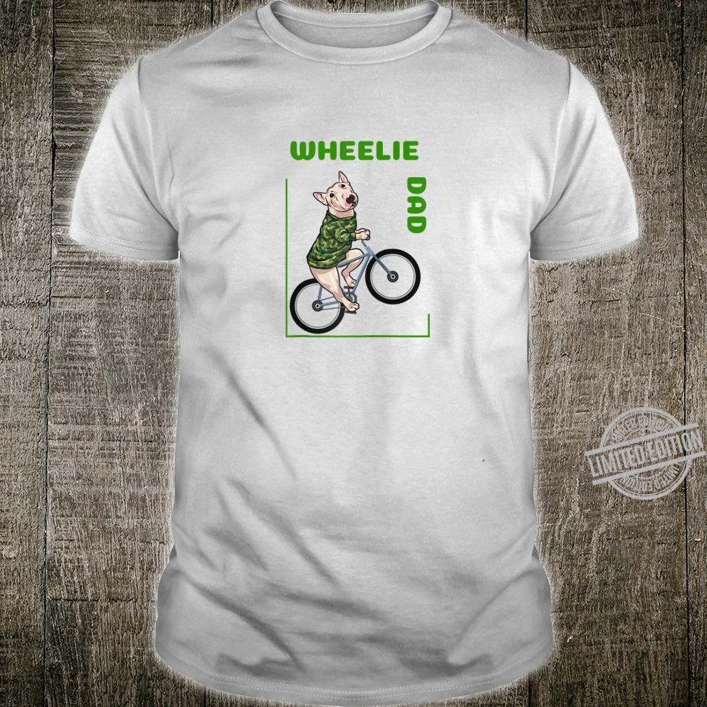 Mens Lolamart Cycling Wheelie Dad Green Camo MTB Bike Bicycle Shirt