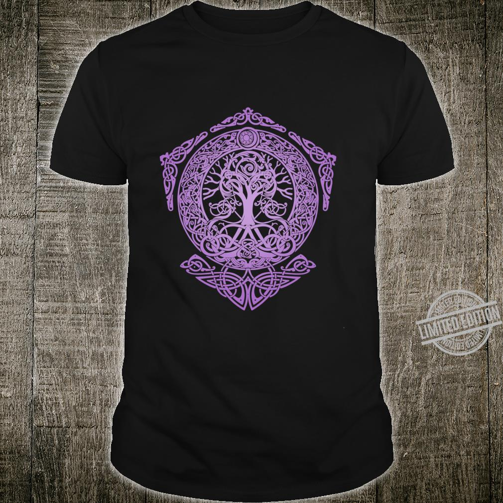 Mother nature roots tree of life yggdrasil purple Shirt