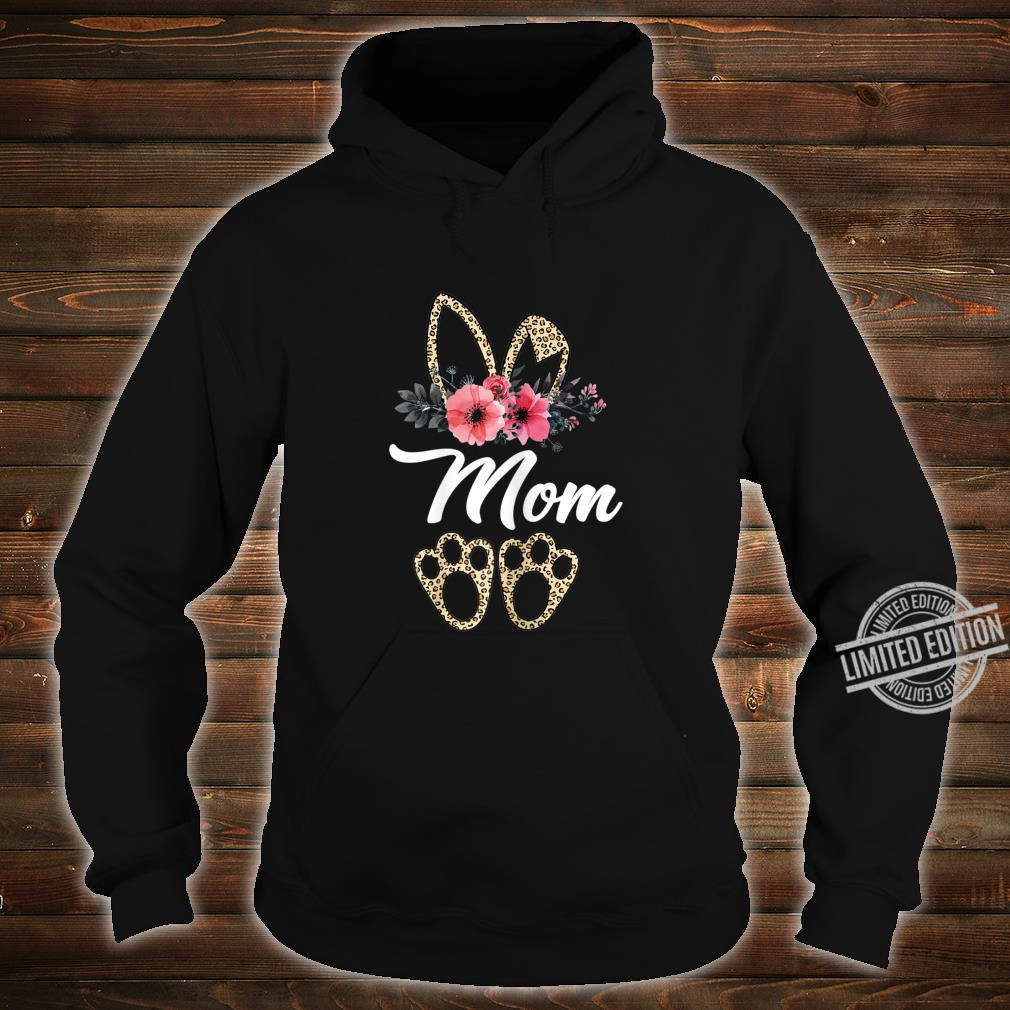 Mother's Day Easter For Mom Leopard Print Bunny Shirt hoodie