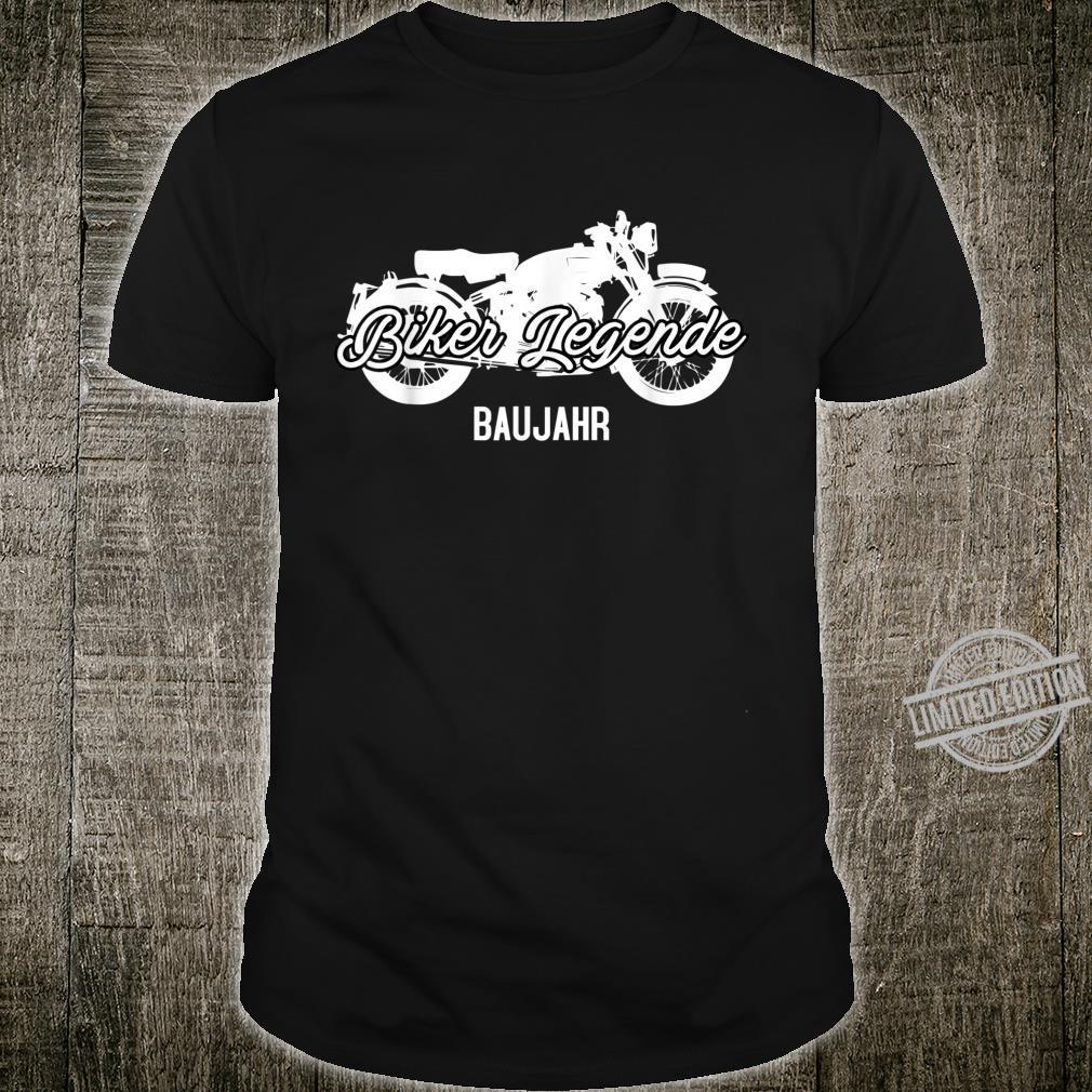 Motorräder Spruch Biker Legende Baujahr Shirt