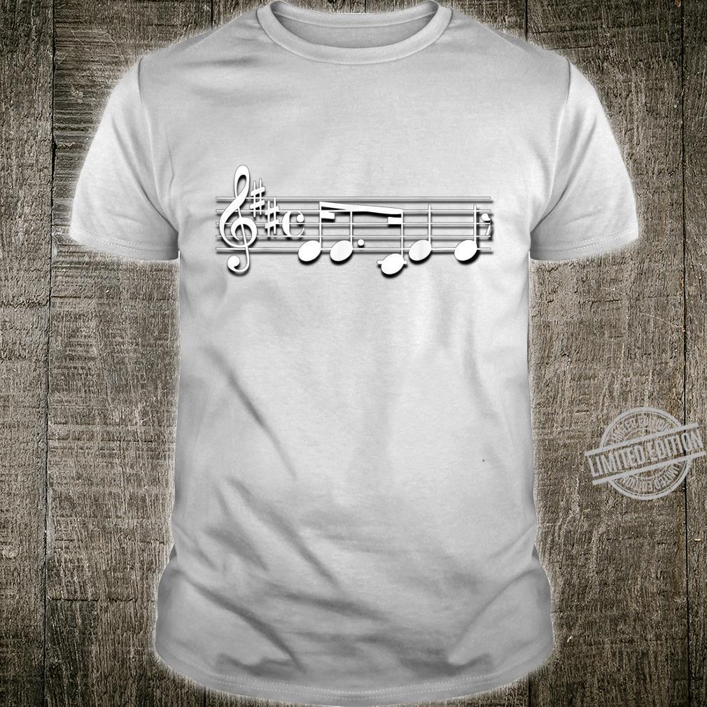 Music Staff Notes Symbols Musician Shirt