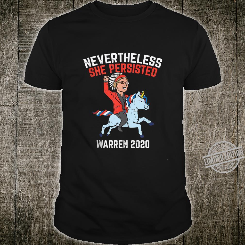 Nevertheless She Persisted Native American Warren Unicorn Shirt