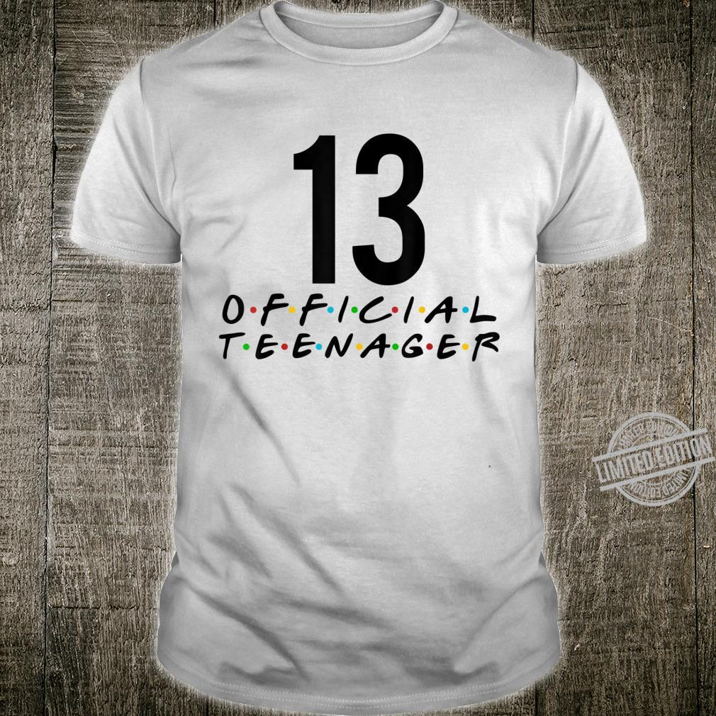 Officialnager 13th Birthday Party 13 Years Old Shirt