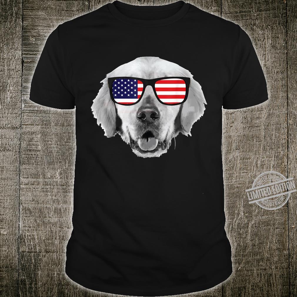 Patriotic Dog 4th of July USA Red White Blue USA Flag Shirt