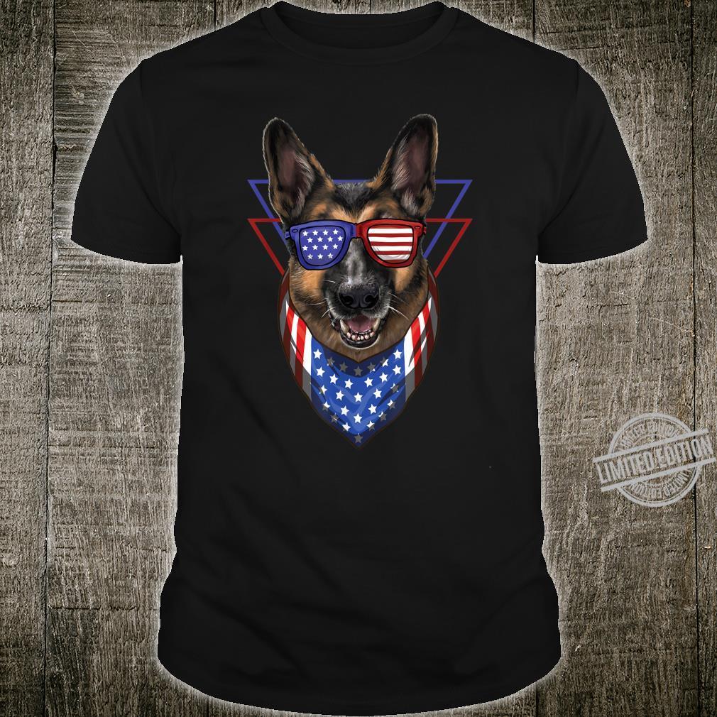 Patriotic German Shepherd Dog American Flag K9 Unit Shirt