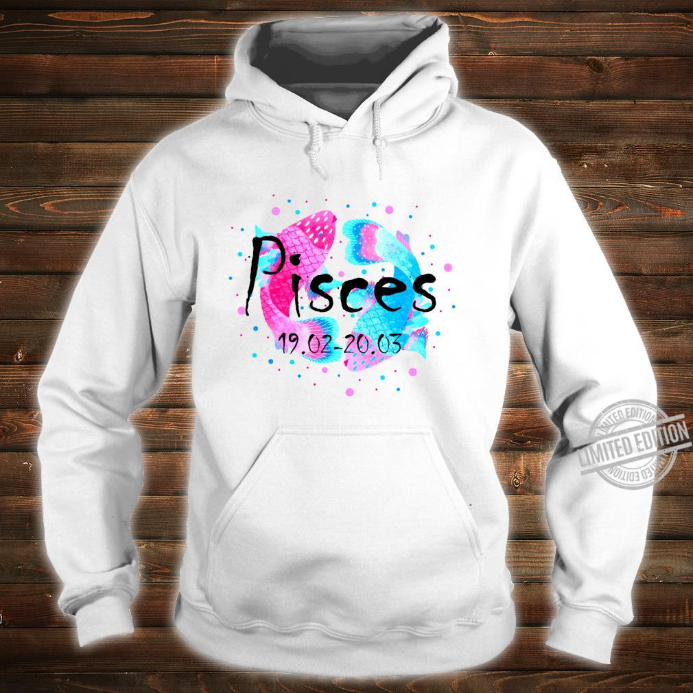 Pisces Zodiac Watercolor Pink February March Birthday Shirt hoodie