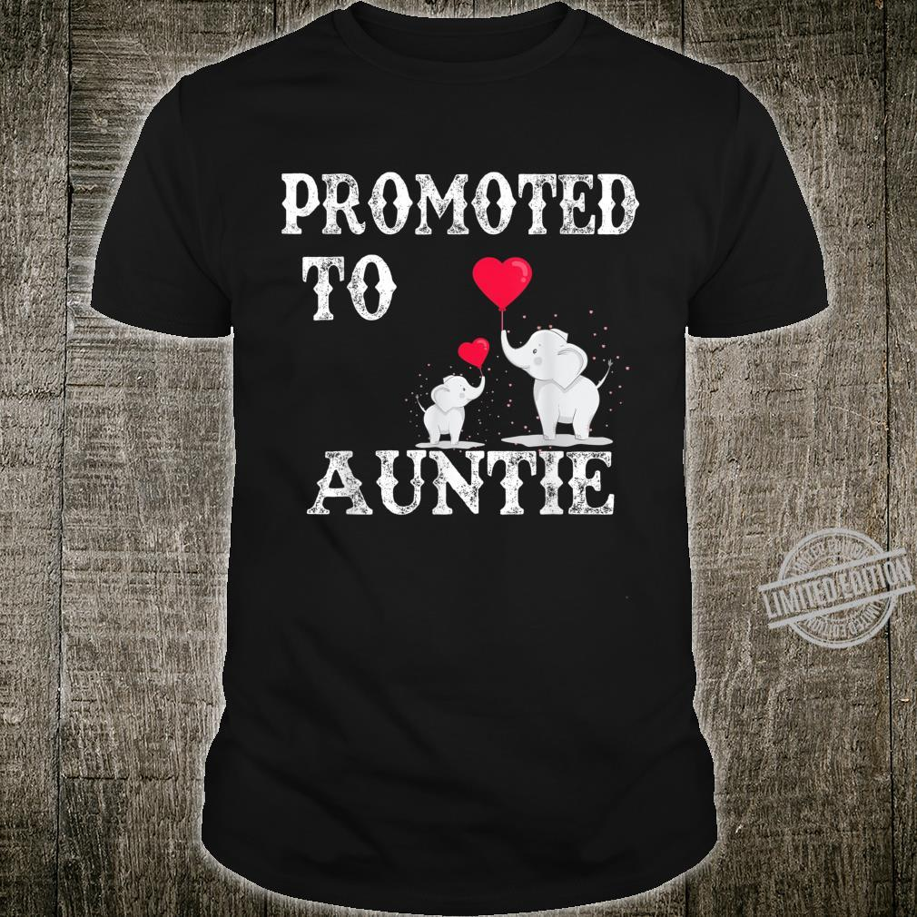 Promoted To Auntie 2020 Angel Mothers Day Shirt