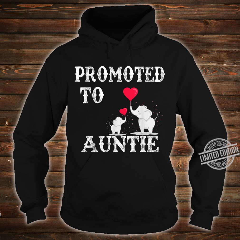 Promoted To Auntie 2020 Angel Mothers Day Shirt hoodie