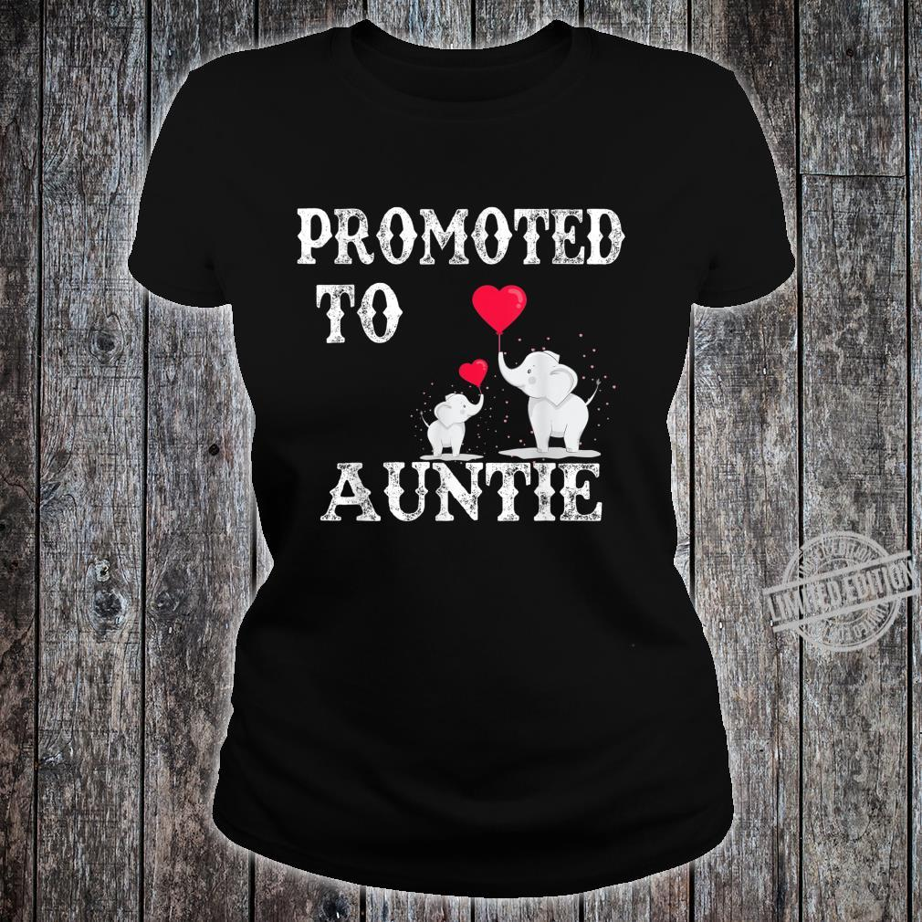 Promoted To Auntie 2020 Angel Mothers Day Shirt ladies tee
