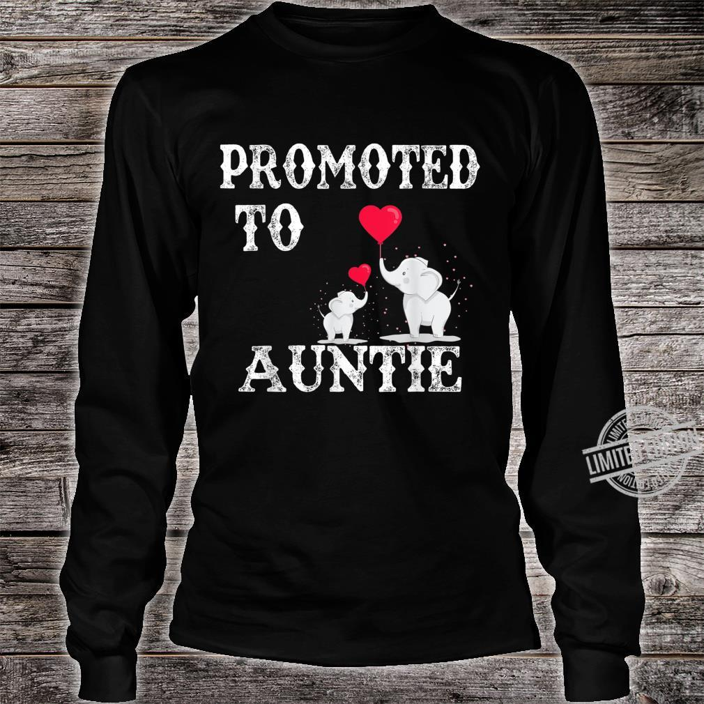 Promoted To Auntie 2020 Angel Mothers Day Shirt long sleeved