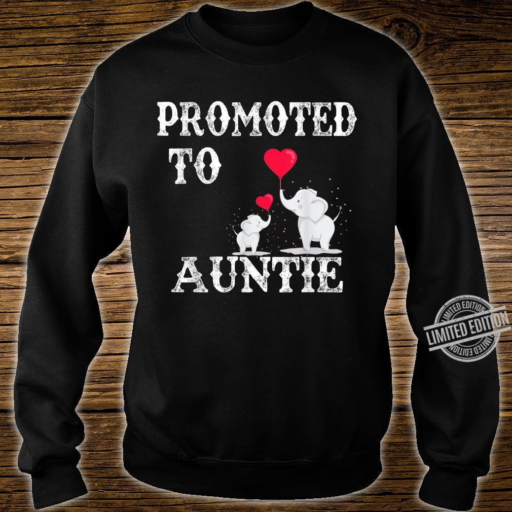 Promoted To Auntie 2020 Angel Mothers Day Shirt sweater