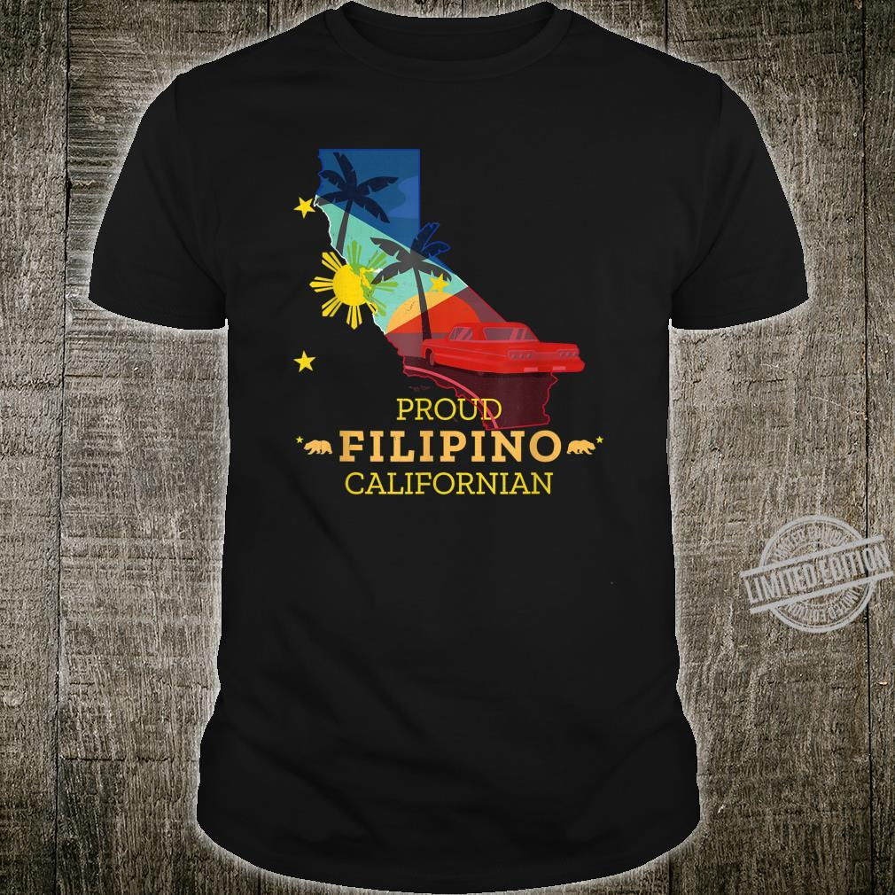 Proud Filipino Californian California Map Philippines Flag Shirt