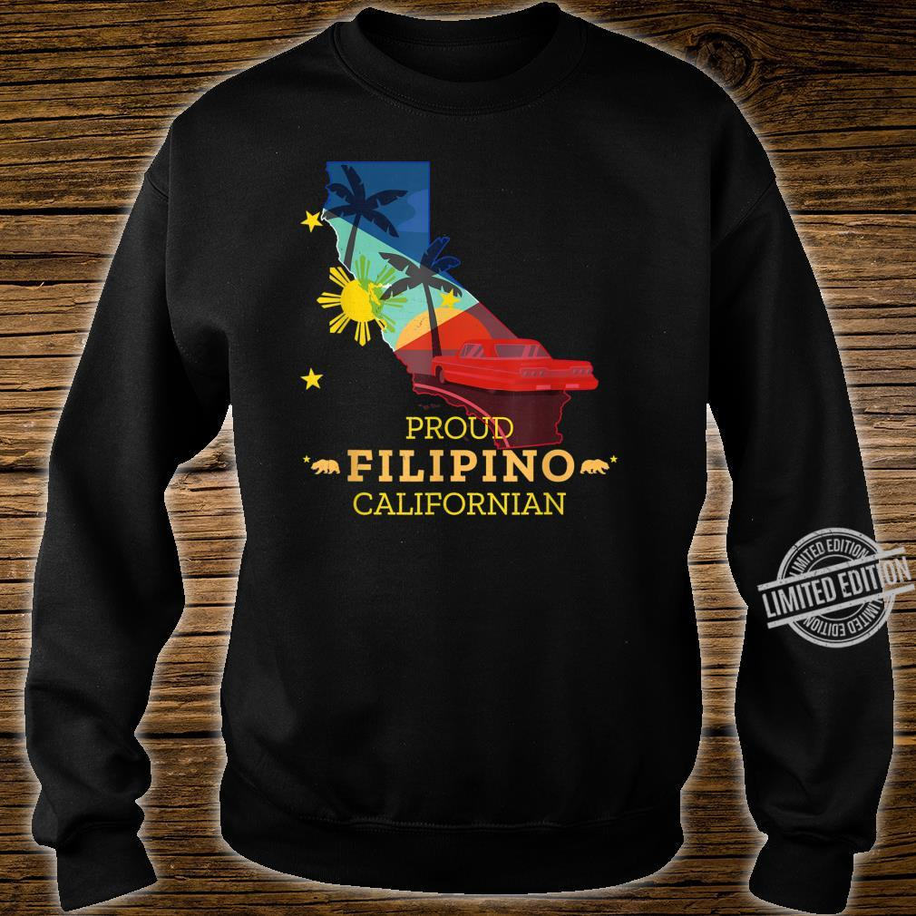 Proud Filipino Californian California Map Philippines Flag Shirt sweater