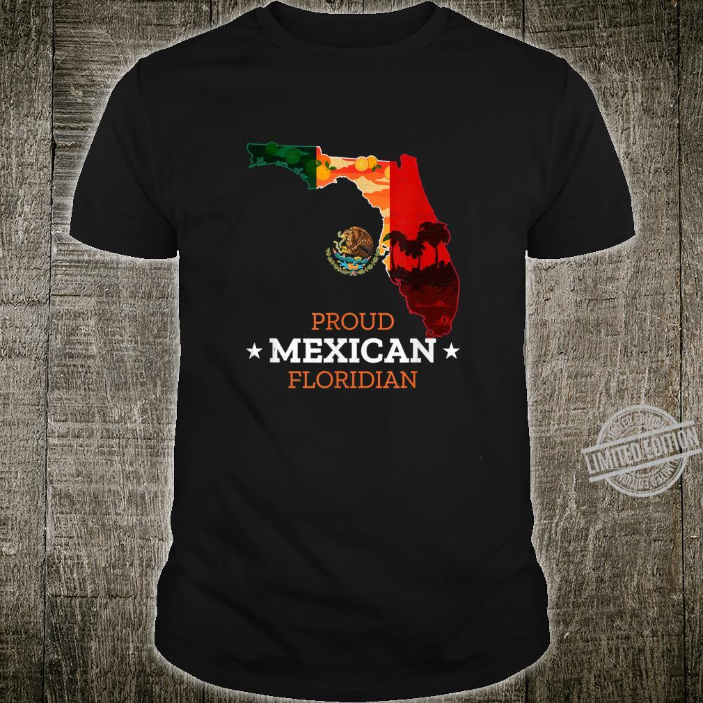 Proud Mexican Floridian Florida Map and Mexico Flag Shirt