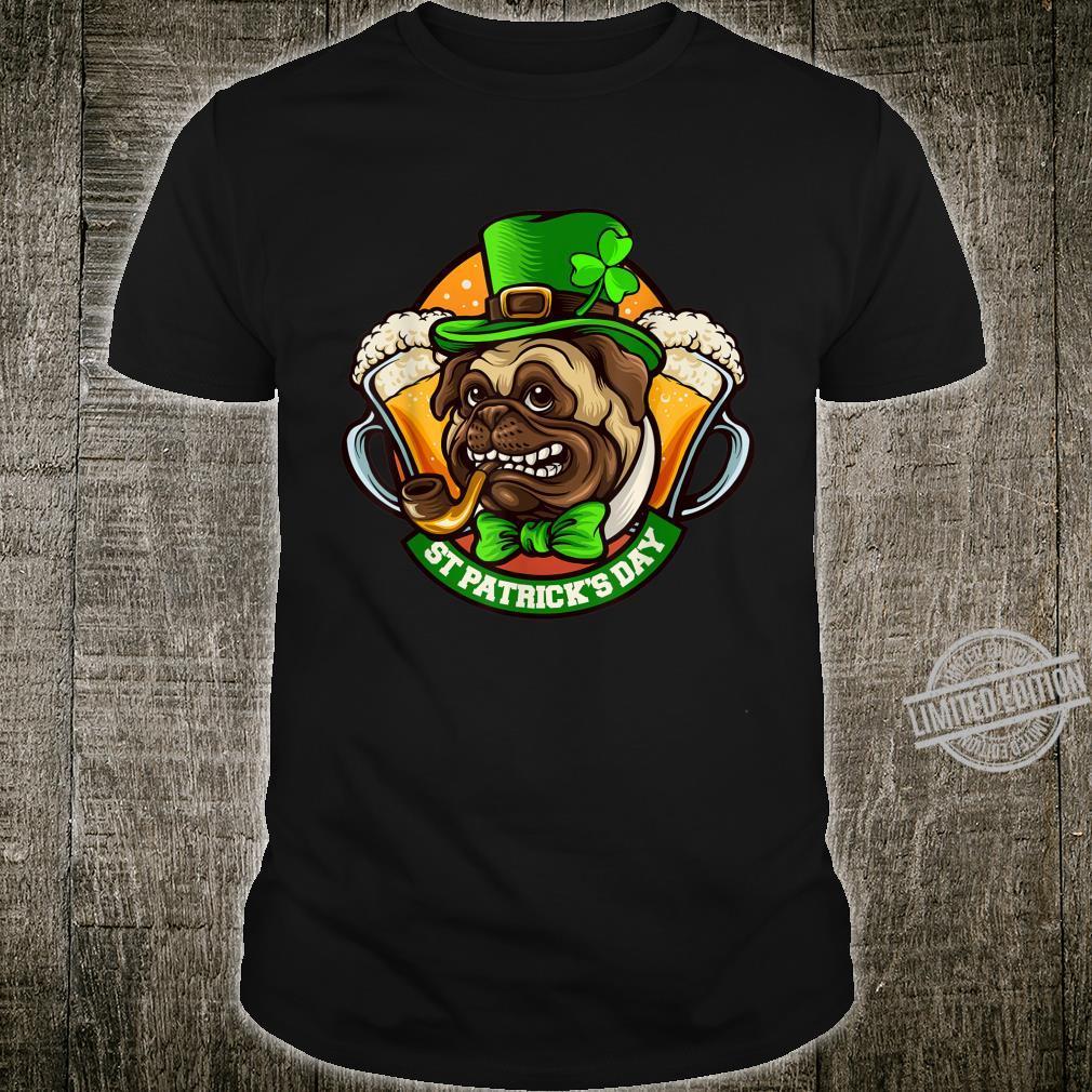 Pug Irish Clover St Patrick's Day Dog Shirt