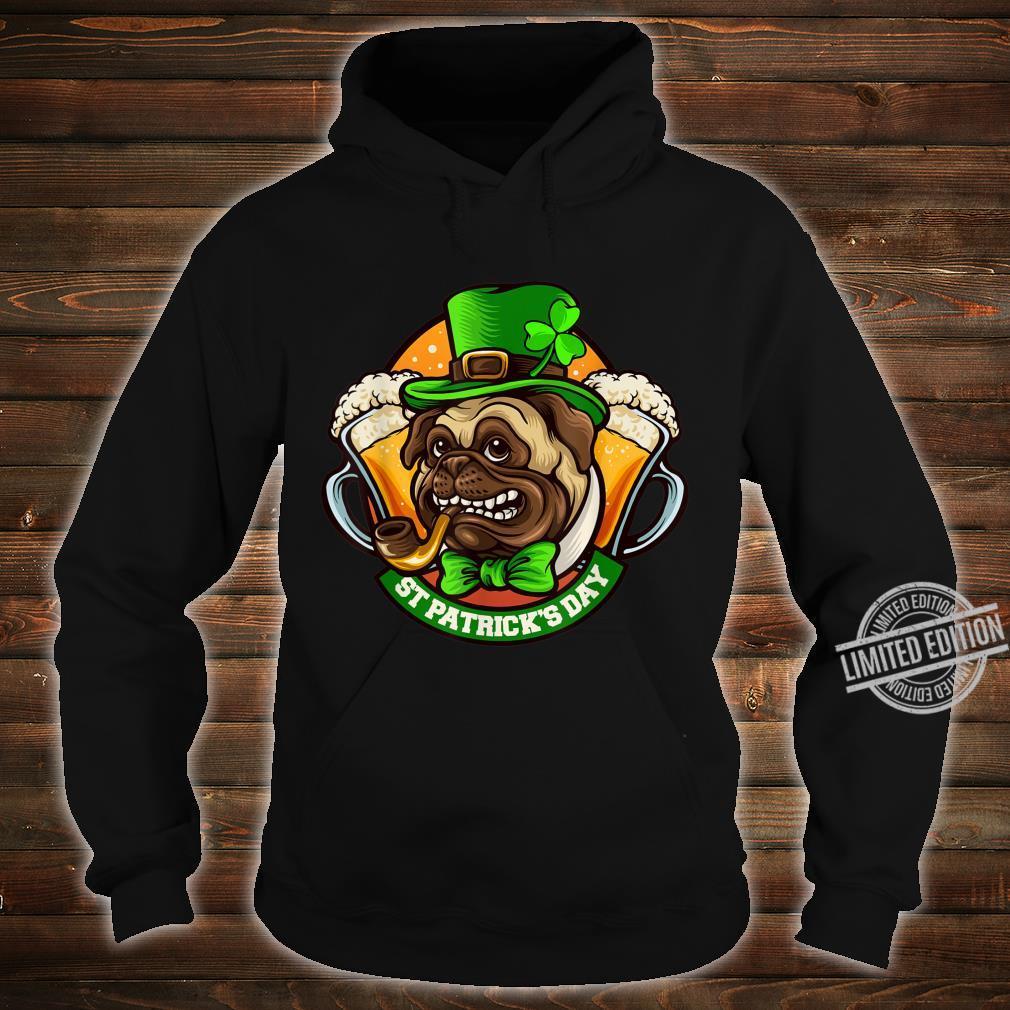 Pug Irish Clover St Patrick's Day Dog Shirt hoodie