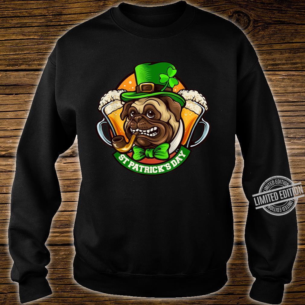Pug Irish Clover St Patrick's Day Dog Shirt sweater