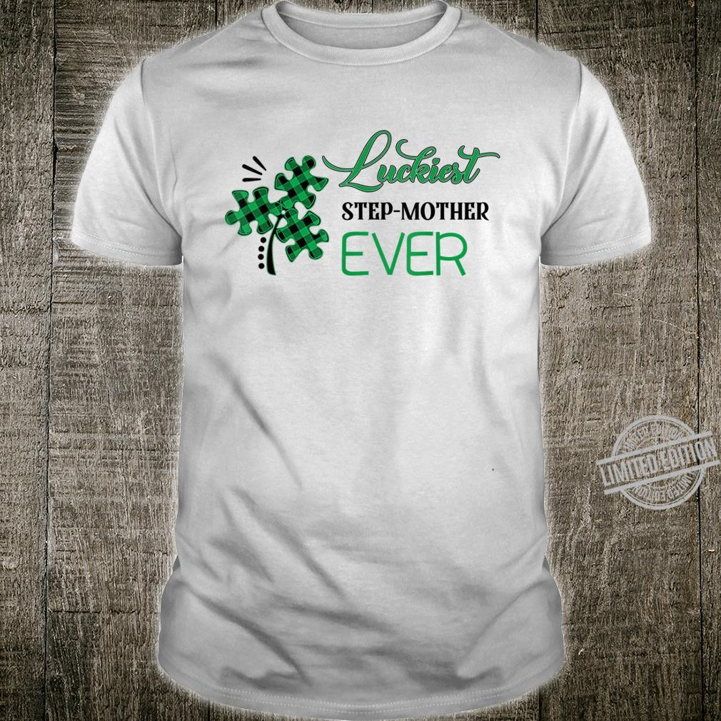 Puzzle Shamrock Luckiest Stepmother Ever St Patricks Day Shirt