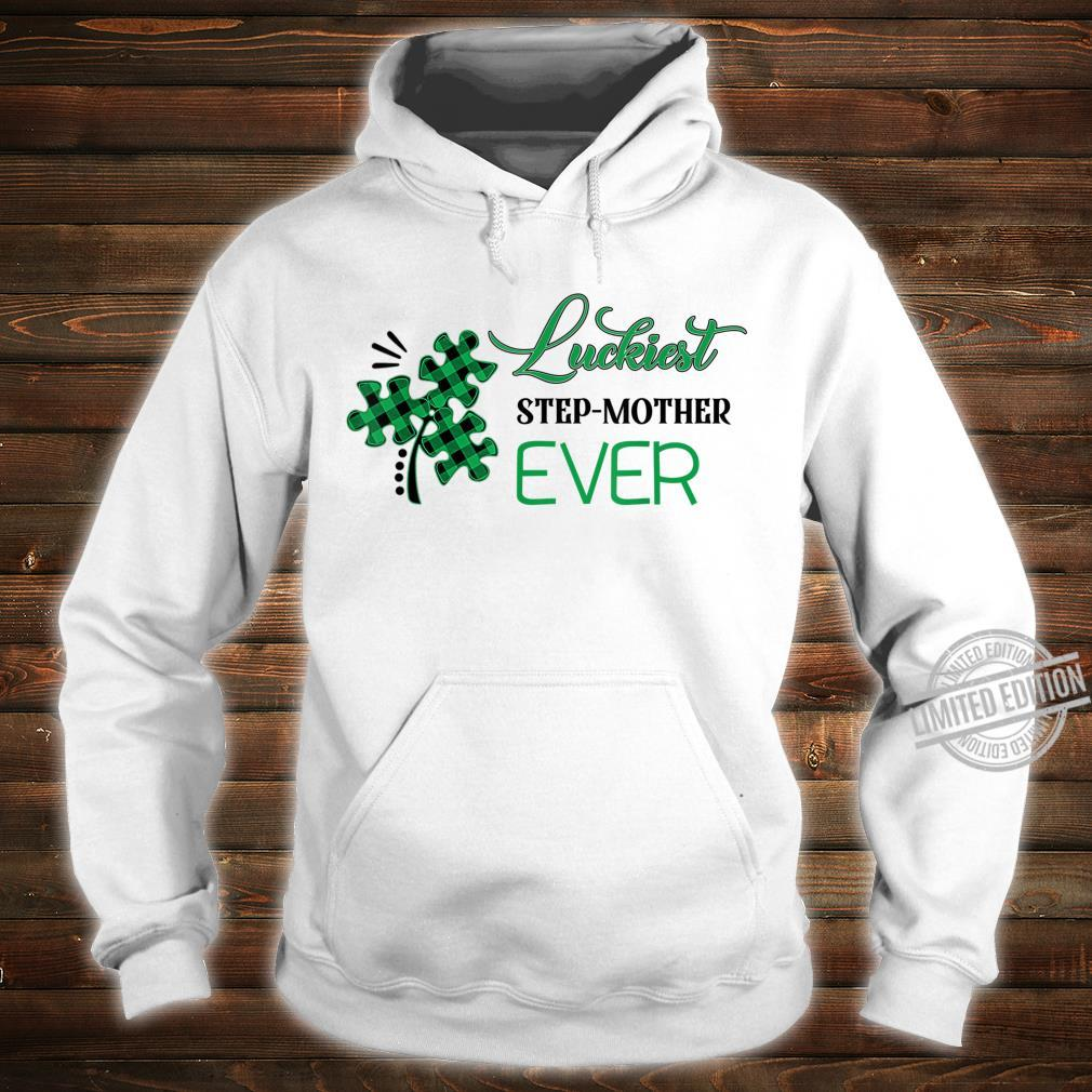 Puzzle Shamrock Luckiest Stepmother Ever St Patricks Day Shirt hoodie