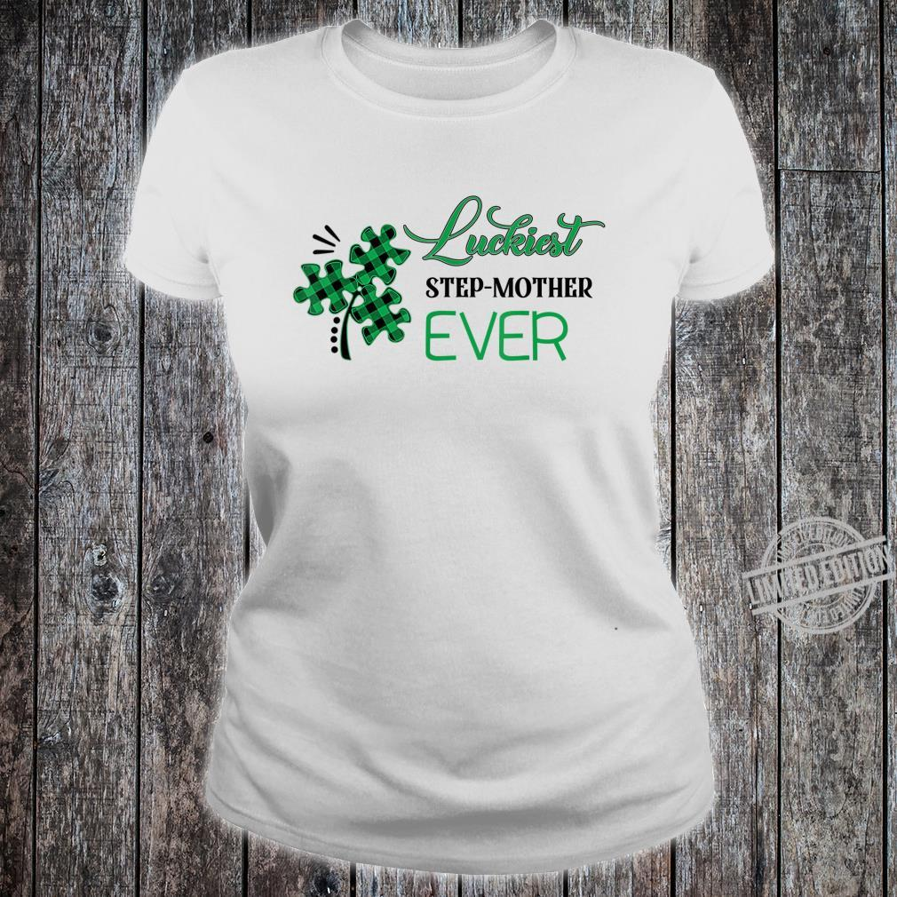 Puzzle Shamrock Luckiest Stepmother Ever St Patricks Day Shirt ladies tee
