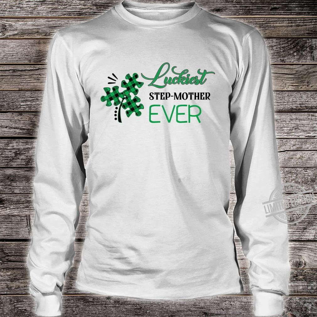 Puzzle Shamrock Luckiest Stepmother Ever St Patricks Day Shirt long sleeved