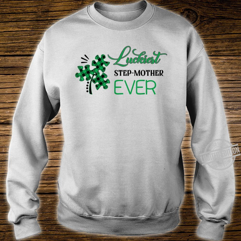 Puzzle Shamrock Luckiest Stepmother Ever St Patricks Day Shirt sweater