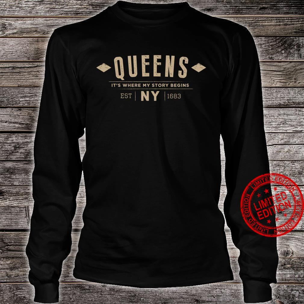 Queens NY Shirt Queens New York Shirt long sleeved