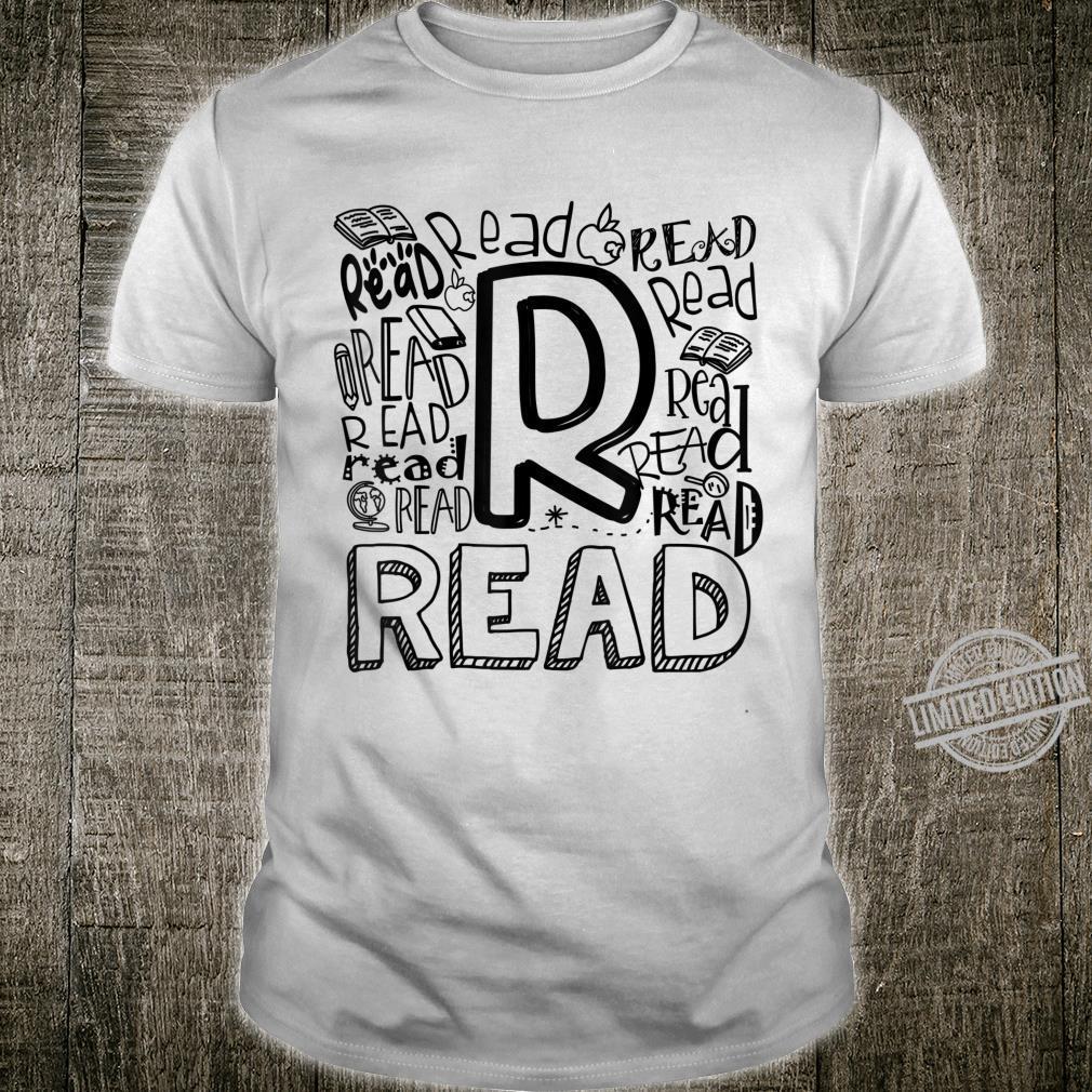 Read Word Art Book Bookaholic Bookworm Reading Fan Shirt