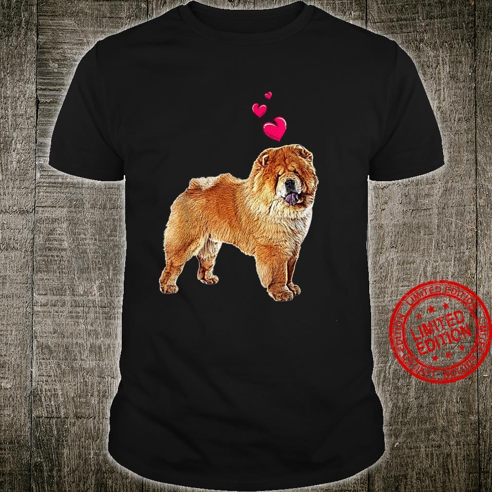 Süßer Chow Chow Hund mit Herzen lustiges Hundemotiv Shirt