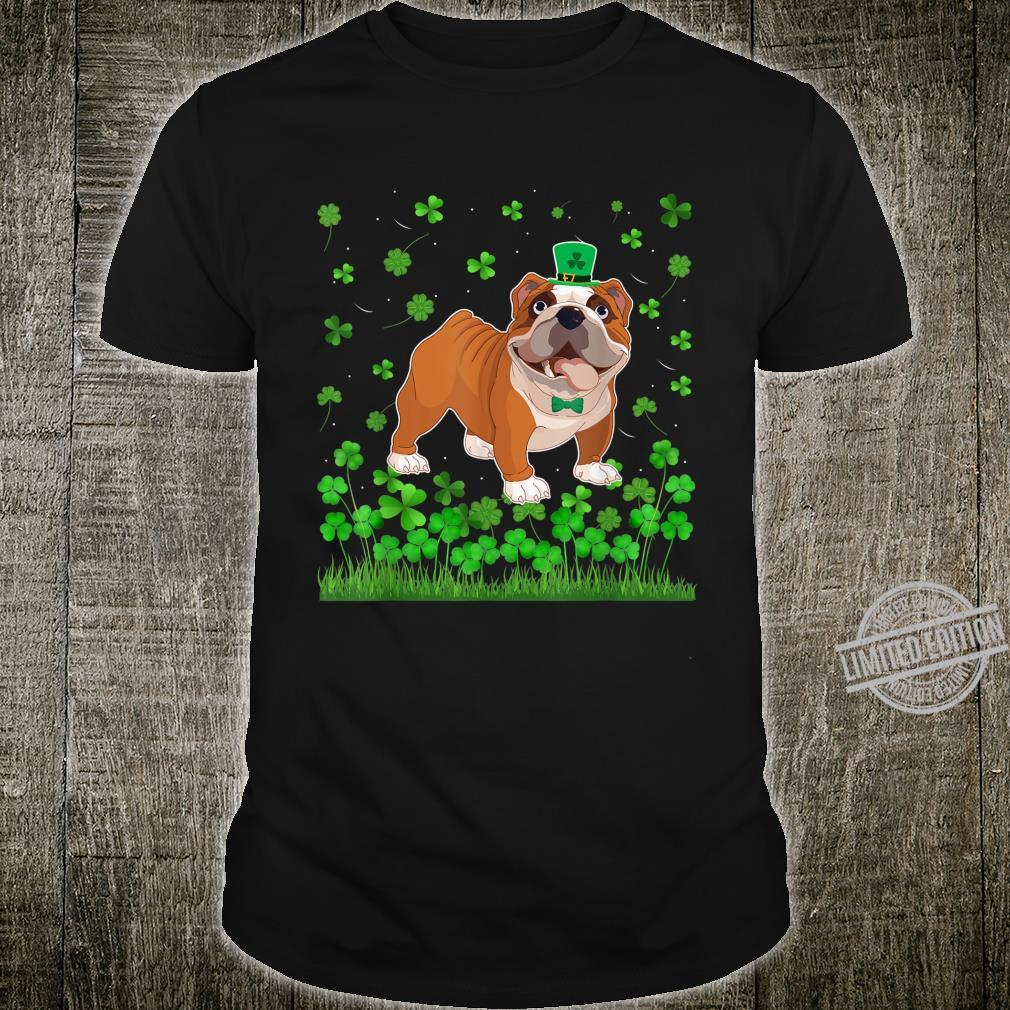Shamrock English Bulldog Dog Mom Dad St Patricks Day Irish Shirt