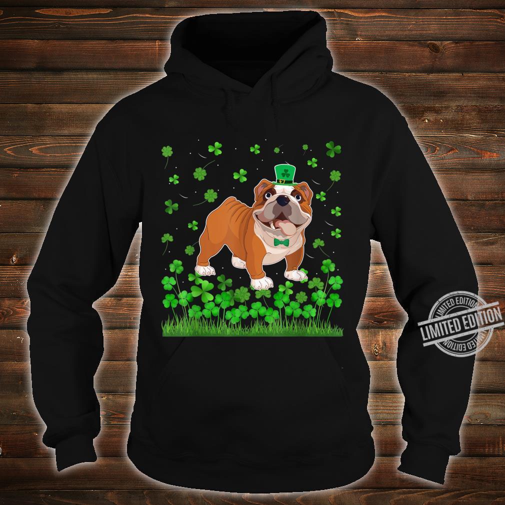 Shamrock English Bulldog Dog Mom Dad St Patricks Day Irish Shirt hoodie