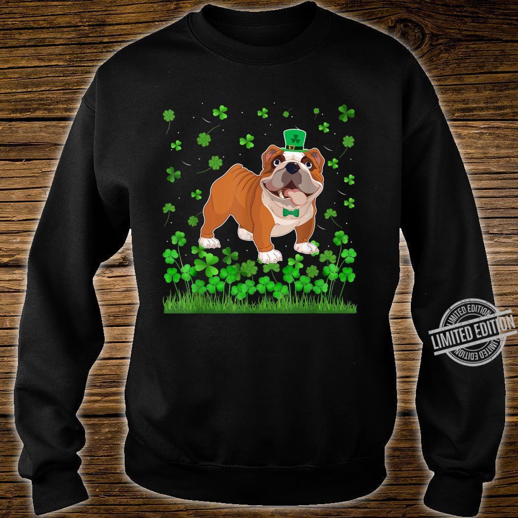 Shamrock English Bulldog Dog Mom Dad St Patricks Day Irish Shirt sweater